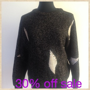 Sequin 80's sweater, size 8-14 depending on fit. Was $35 now $25