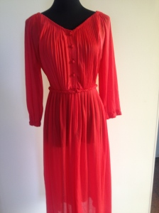 Gorgeous sheer 70's poly dress with original plaited belt. $45, size 10