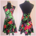 Cotton halter dress, $45