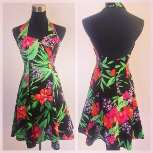 Cotton halter dress, $45