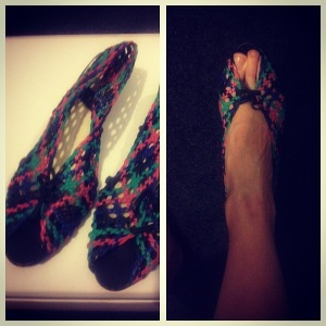 Woven leather sandal, labelled size 10B but more like a size 9. $15