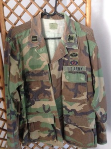 Official US Army jacket size M-L. $60