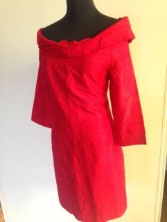 Handmade raw silk, off the shoulder dress. $45